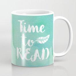 Time to Read - Green Coffee Mug