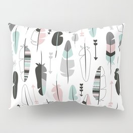 Arrows and feathers summer pattern Pillow Sham