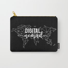 Digital nomad black Carry-All Pouch