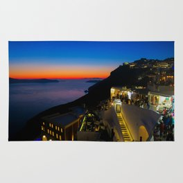fira sunset-Santorini Rug