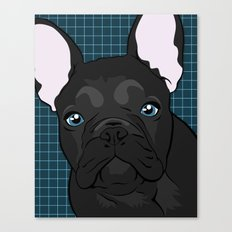 Black Frenchie Canvas Print