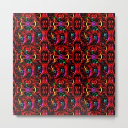 Festive  Party Time Red  Metal Print