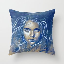 Stay Wild Ocean Child Throw Pillow