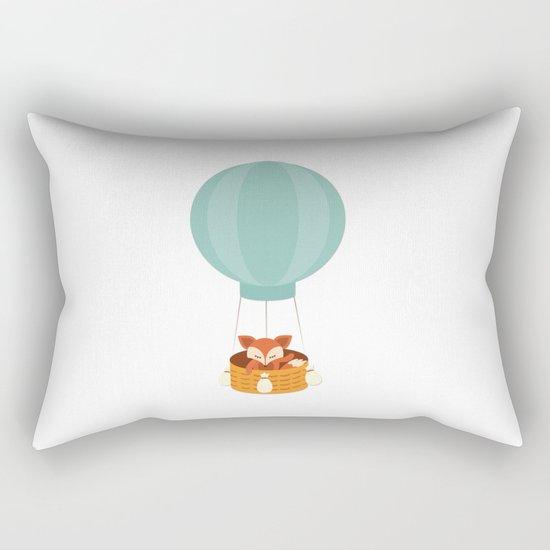 Flying fox- Animal Watercolor Illustration Rectangular Pillow
