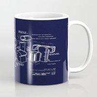 blueprint Mugs featuring Blueprint by Matthew McKenna