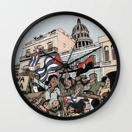 Cuban revolution Wall Clock