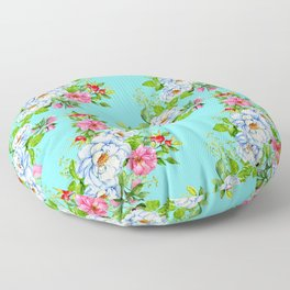 Vintage Floral Pattern No. 8 Floor Pillow