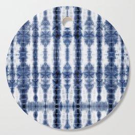 Tiki Shibori Blue Cutting Board