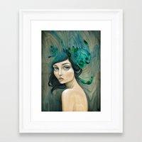 mermaid Framed Art Prints featuring Mermaid by Mandy Tsung