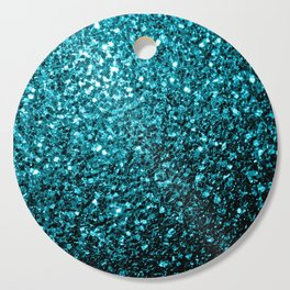 Beautiful Aqua blue glitter sparkles Cutting Board