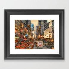 Busy Sunset Framed Art Print