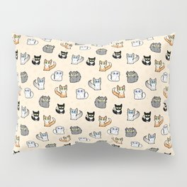 House Cats - Cartoon Pattern Peachy Pillow Sham