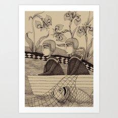 The Golden Fish (2) Art Print