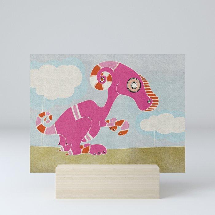 Kangaroo Go-Go Pink Mini Art Print