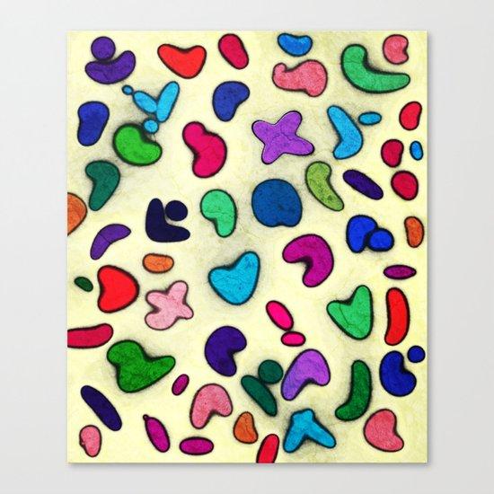 Seamless Colorful Geometric Pattern XXIX Canvas Print