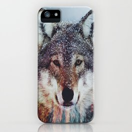 Wolf Double exposure iPhone Case