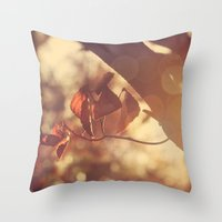 stay gold Throw Pillows featuring Stay Gold by Oh, Good Gracious!