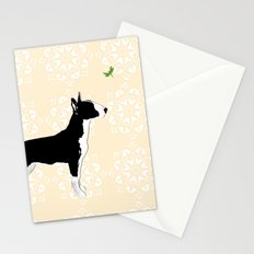 English Bull Terrier in black Stationery Cards