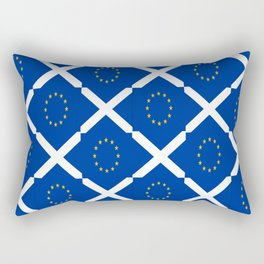 Mix of flag: UE and scotland Rectangular Pillow