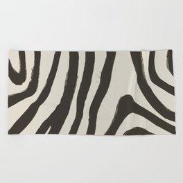 Painted Zebra Beach Towel