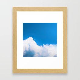 Starfighter breaking clouds Framed Art Print