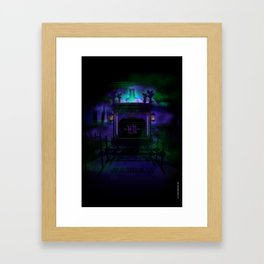 Hearse that will carry you home to the smoldering sanctum  Framed Art Print