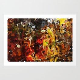 Autumn Woods 031012 Art Print