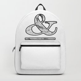 Dramatic white marble ampersand Backpack