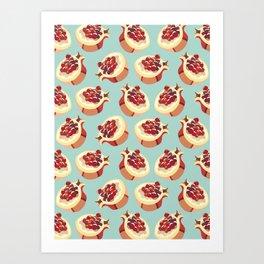 Pomegranate pattern Art Print
