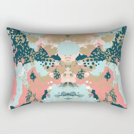Eisley - Modern fresh abstract painting in bright colors perfect for trendy girls decor college Rectangular Pillow