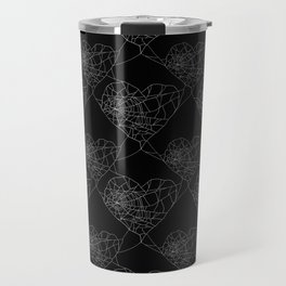 Heart shaped spider web pattern Travel Mug