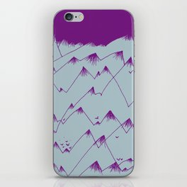 Purple Mountains iPhone Skin