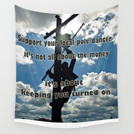 Support your Lineman Wall Tapestry