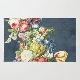 Floral Tribute to Louis McNeice Rug