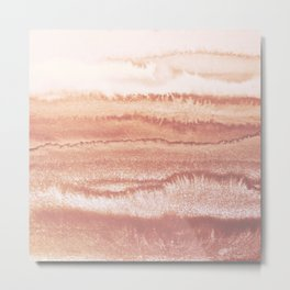 WITHIN THE TIDES BURNISH EARTH by Monika Strigel Metal Print