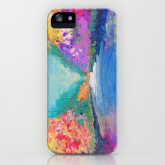 AROUND THE RIVERBEND - Autumn River Modern Nature Pochahontas Abstract Landscape Acrylic Painting Slim Case iPhone (5, 5s)
