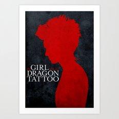 Girl with the Dragon Tattoo Art Print