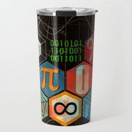 Math Game in black Travel Mug