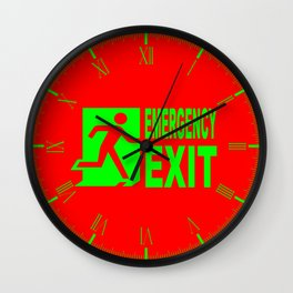 Emergency Exit Wall Clock