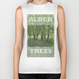 ALDER TREES NEARING THE END OF SUMMER ON ORCAS ISLAND Biker Tank