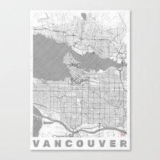 Vancouver Map Line Canvas Print