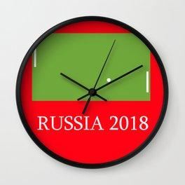 Russia 2018 Wall Clock