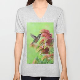 Hummingbird in Justicia Unisex V-Neck