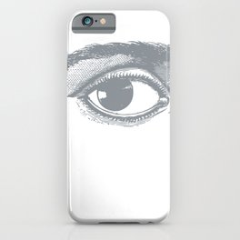 I see you. Gray on White iPhone Case