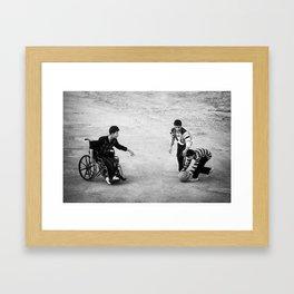 Streetball Framed Art Print