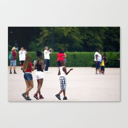 Street Scenes Series 3 Kids Walking Canvas Print