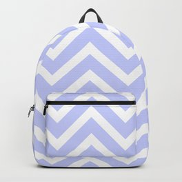 Chevron Stripes : Periwinkle Blue & White Backpack