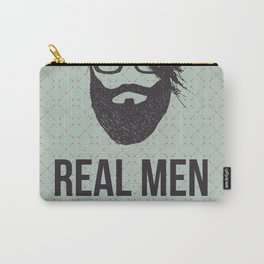 Real men go to real barbers Carry-All Pouch