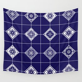 Talavera Mexican Tile – Porcelain Palette Wall Tapestry
