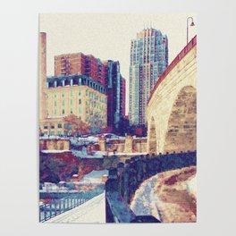 Stone Arch Bridge-Minneapolis, Minnesota Poster